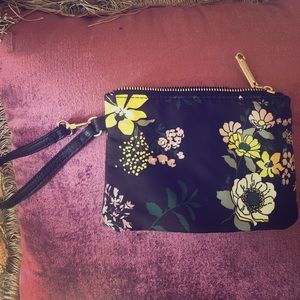 Steve Madden floral wristlet purse